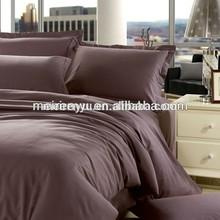 Deep color single double bed sheet 100% cotton bedding sets