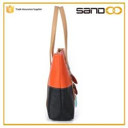 2015 Fashion wholesale leather Women's tote bag ladies handbags