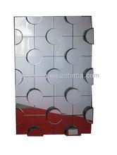 Fashion Rectangular Glass Mirror on Mirror Wall Mirror with Big Dots Design, Decorative, Modern