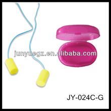 cylinder PU foam disposable sleeping aviation travel in pp box holiday earplugs/ear plugs
