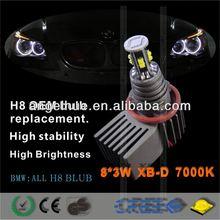 2013 new car led light H8W10 angel eye h8 angel eye led marker headlight halo rings led bulbs