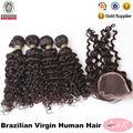 """Perfetta donna nero 100% vergine remy hair5a grado superiore capelli vergini brasiliana grossisti prezzo a buon mercato, 14"""" ~30"""" onda profonda dei capelli tagliati"""