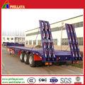 China proveedor de servicio pesado tri- ejes 60 toneladas transportador semi remolque de cama baja/camiones& de remolque del tractor bajo bajo cubierta chico semirremolque
