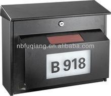 European style household metal mailbox,solar metal mailbox,letterbox,postbox