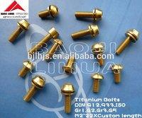 All of dimensions Gr2 Titanium bolt m4 DIN933 In stock