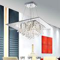 salle à manger éclairage grand lustre en cristal moderne lampe