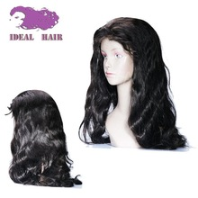 130% to 180% Density brazilian human hair full lace wig