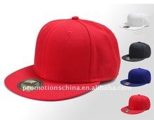 cotton flat brim blank snapback cap