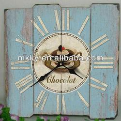 Shabby chic wall clock&France design wood clock