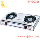 JP-GC206 Best Camping 2 Burner Spare Parts Royal Grid Free Standing Outdoor Portable Table Top Gas Cooker