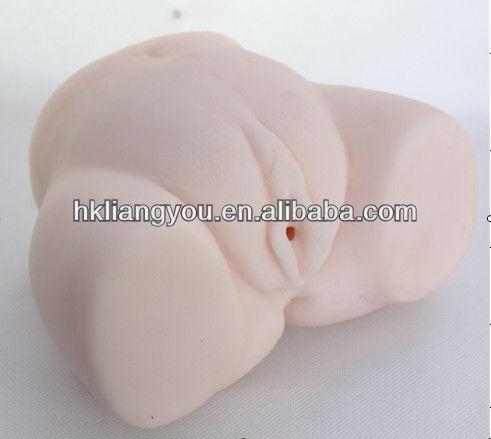 Vagina artificial boneca sólida sexo silicone full 3D e vagina artificial dois furos GFM-0223