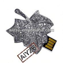 sale metal maple leaf usb flash memory(paypal)