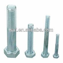 Salable low carbon steel m8 galvanized hex head bolt din933 grade4.8