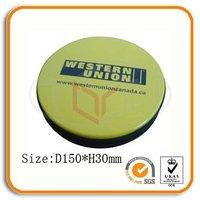 Round Zipper Metal Tin CD Case