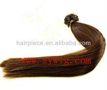 feather hair extension/Remy fusion keratin nail tip hair/nail tip indian human hair wholesale