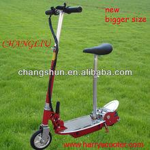 Big 24V120W easy folding dual-use PU wheel aluminium brake bar Electric Scooter for Kids, Skateboard, CS-E8009