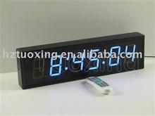 3 inch 6 digit led wall mounted digital clock