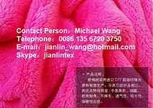 100% polyester short pile sherpa fleece fabric