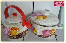 Enamel cookware Cooker-pots-and-kettles-sets-Kits, picnic cooking pots and kettles sets, Kitchen utensil cookware sets portable,