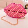 2014 new design shine pu leather lips cell phone shoulder bag handbag for girls