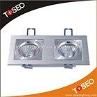Pure aluminium square recessed downlight