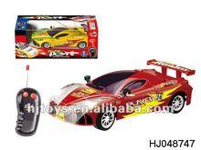 Radio control flash racing car