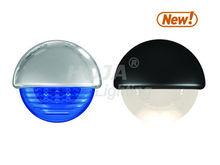 2.25 inch LED Half Round Courtesy Light 12v light rv