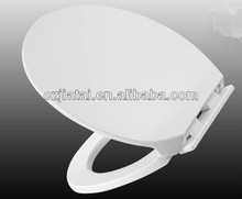 D shape wrap over Urea toilet seat cover soft close function with take off hinge