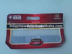 CUSTOM plastic slide zipper hot chicken bags/ roasted chicken packaging bag/microwaveable grilled chicken bag