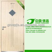 GLASS INSERTED CPL WOODEN DOOR (MODEL NO.:KSP-02)