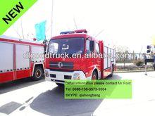 Dongfeng kinrun water tank fire fighting truck foam fire truck foam tenders 0086-13635733504