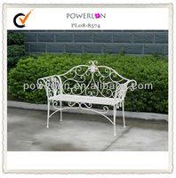 Antique metal indoor decorative bench