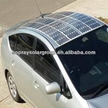 100w/18v high efficiency semi/mini flexible solar panel price for car