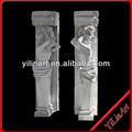 تمثال امرأة من الرخام الأبيض ووكينغ، أعمدة رومانية، yl-l195 أعمدة في الهواء الطلق
