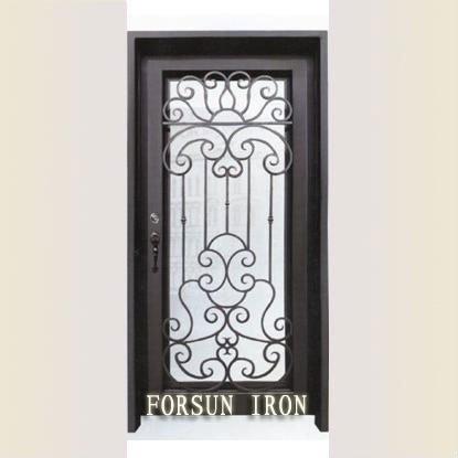 Ornamental puerta de entrada de hierro fsm 596 puertas for Puertas de entrada de hierro