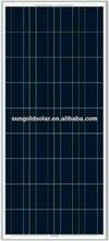 Solar power polycrystalline solar panel 130w18v