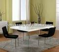 moderno de bambi blanco mesa de comedor y baja de la espalda lado tapizados sillas