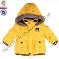 Los niños brillante deinvierno chaqueta con capucha/ropa de bebé