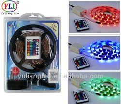 2015 Premium RGB LED stripe Tape Light SMD5050 / 12V 60led/m 14.4w/m IP65 for outdoor decotation