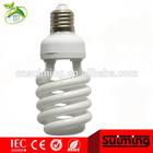 2013 Top Sale Half Spiral Energy Saving Lamp,PBT / PC plastics base energy saving light,High quality CFL