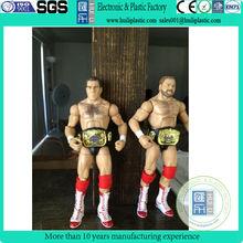 wholesale wrestling plastic figurine/custom plastic wrestling figurine/6 inch 3d wrestling action figurine toys