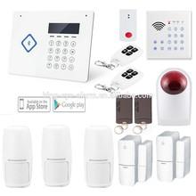 99 zones wireless intelligent wireless digital home security alarm, PSTN wireless alarm
