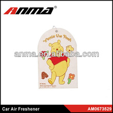 Nice anima cartoon shape car paper air freshener toilet air freshener