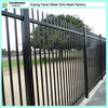 Australia standard 1.8m(H)x2.4m(W) spear top security steel fence