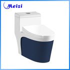 One piece sanitary ware coloured toilet bowl
