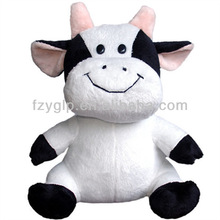lovely stuffed milk cow plush toys animal doll mascot for promotion gifts