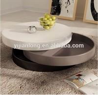 modern high gloss swivel coffee table