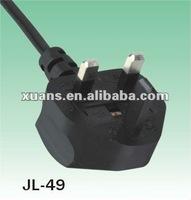 Malaysia power cord plug and 13a uk bs plug