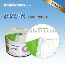 wholesale blank dvd in bulk 4.7GB/120MIN /16x/8x running speed in bulk on sale