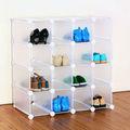 organizador de zapatero 16 parejas de Cubo de plástico con enclavamiento (FH-AL16400)